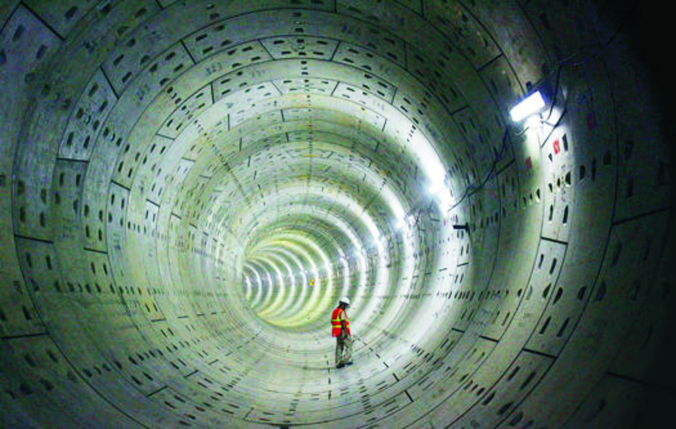 nuclear tunnel boring machine